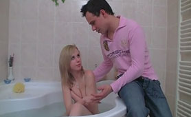 Attentive Stepbro Wants to Bathe his Little Stepsis