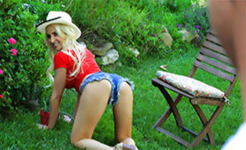 My New Sexy Gardener with Hot Shorts Shows her All Qualities