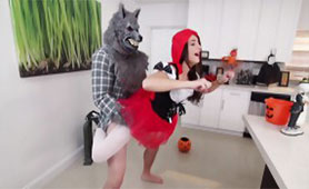 The Evil Wolf Finally Grabbed Little Red Riding Hood
